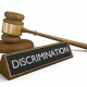 Discrimination sign with gavel