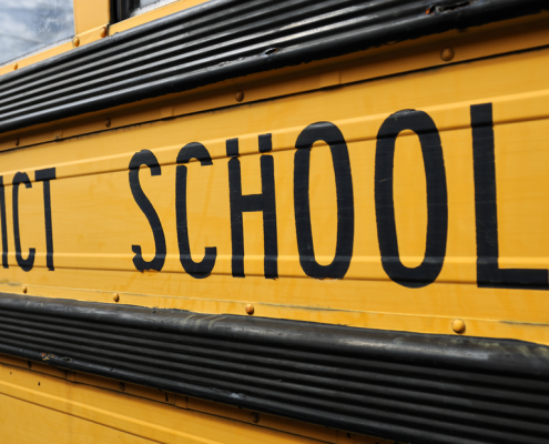 District Schools on yellow school bus